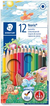 Staedtler kleurpotlood Noris Club 12 potloden in een kartonnen etui