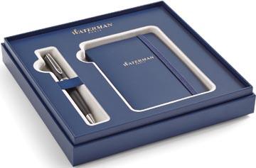 Waterman giftbox Expert balpen medium + notitie boekje, zwart