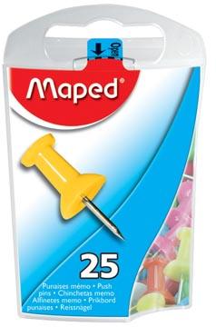 Maped prikbordspelden, ophangdoosje met 25 stuks