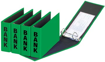 Pagna ringmap (PCR) ft 14 x 25 cm, groen, glans uitvoering met zwarte belettering