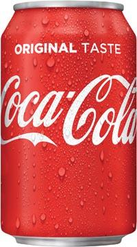 Coca-Cola frisdrank, blik van 33 cl, pak van 30 stuks