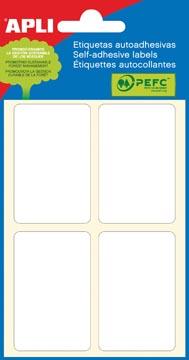 Apli witte etiketten ft 34 x 53 mm (b x h), 24 stuks, 4 per blad (2683)