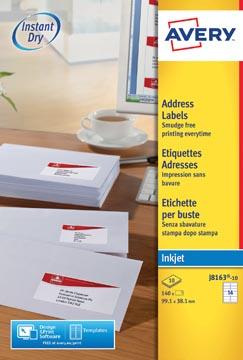 Avery J8163-10 adresetiketten ft 99,1 x 38,1 mm (b x h), 140 etiketten wit