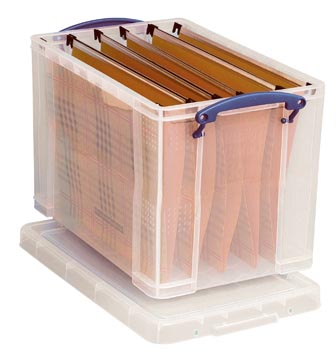 Really Useful Box opbergdoos 19 liter hangmappenkoffer, transparant