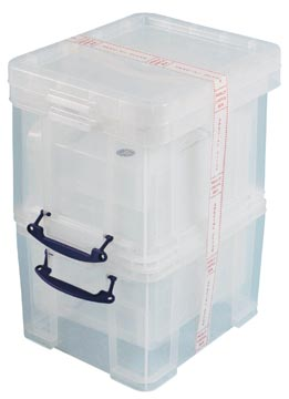 Really Useful Box 35 liter, transparant, pak van 3 dozen
